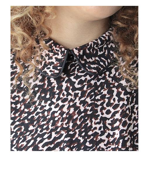 blouse imprime artlove col claudine