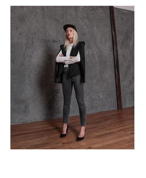 veste a la mode effet cape