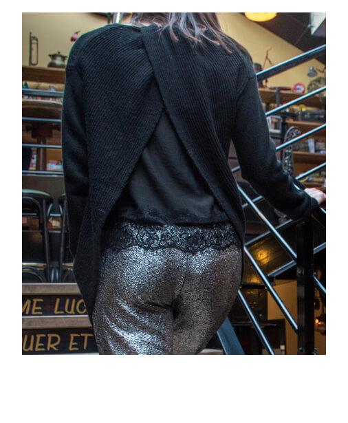 pull fashion décolleté dos