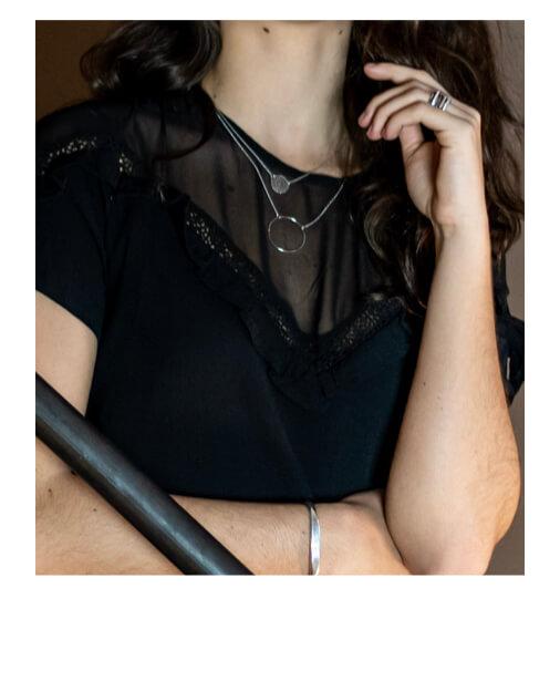 robe cic noire à volants
