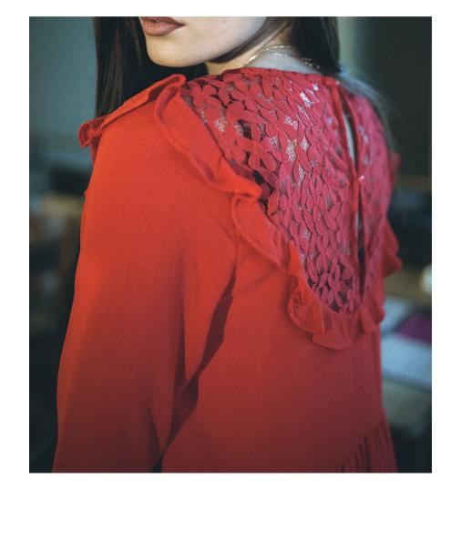 acheter robe fashion emmet detail dentelle