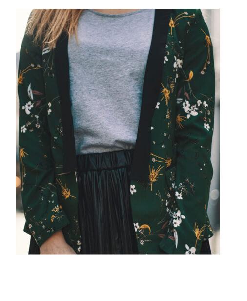 veste tendance imprimée fleurs zoom 2