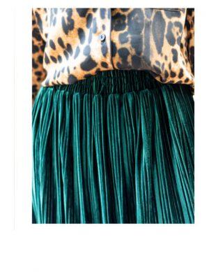 achat jupe plissee velours laisse les parler