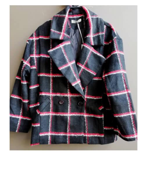 acheter manteau déstructuré à carreaux sur laisse les parler