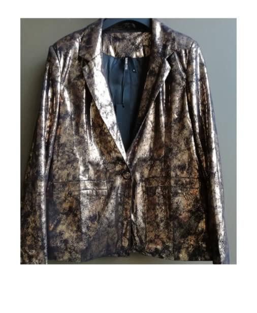 La veste de blazer col tailleur