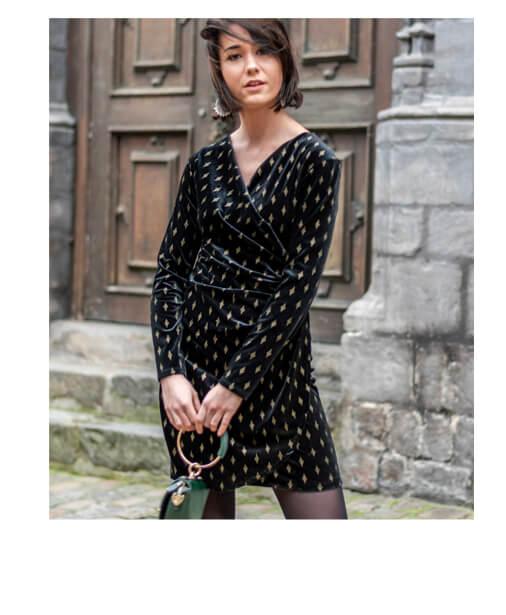 robe en velours pour les fetes