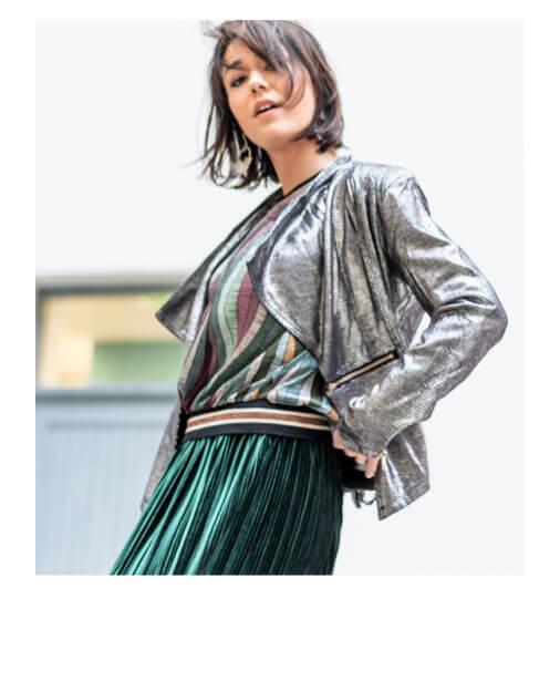 veste perfecto argentee