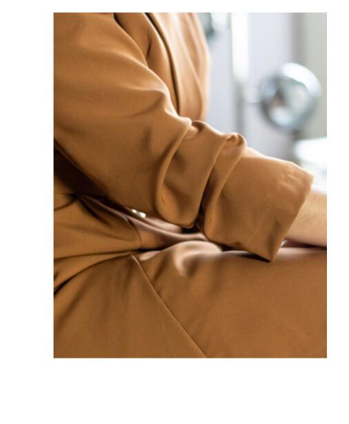 robe blazer et ses manches resserrés