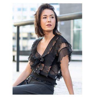 blouse plumetis noire