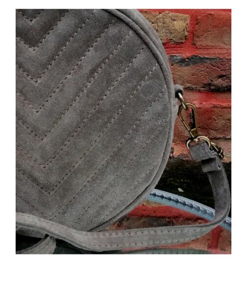 sac rond bandoulière cuir