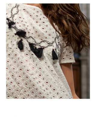 achat blouse boheme broderie anglaise