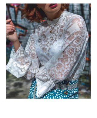 achat blouse dentelle blanche
