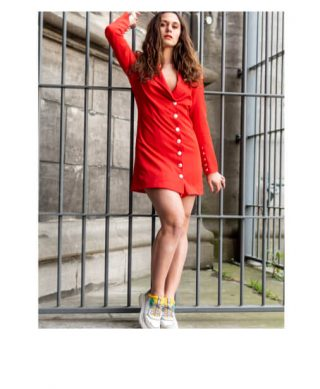 achat robe tailleur tendance rouge
