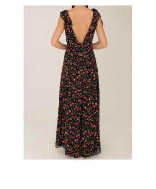 acheter robe longue imprimee fleurs dos nu