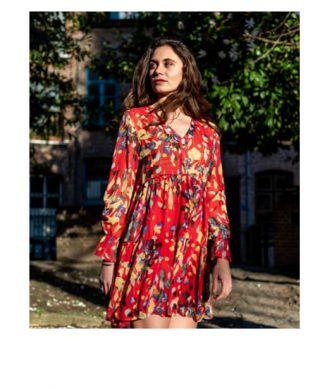 robe imprimee fleurs pas cher