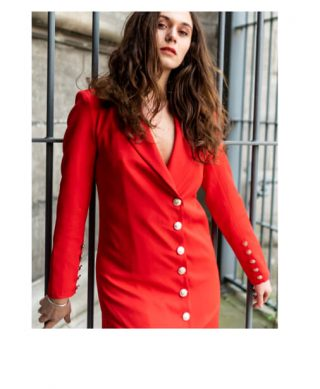 robe smoking rouge