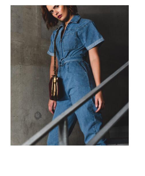 achat combinaison jean manches courtes