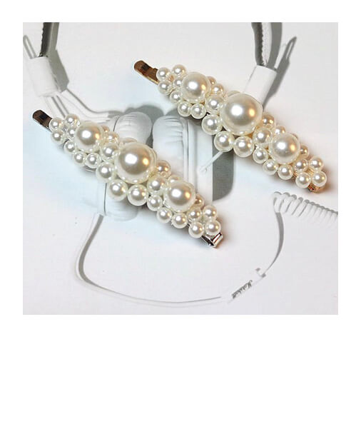 barrette cheveux perles style 2