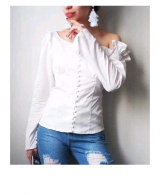 blouse blanche épaule dénudées