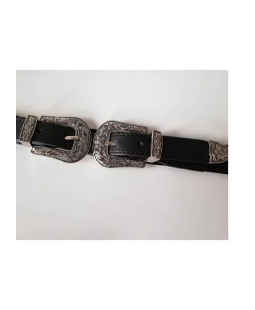 ceinture élastique double boucle