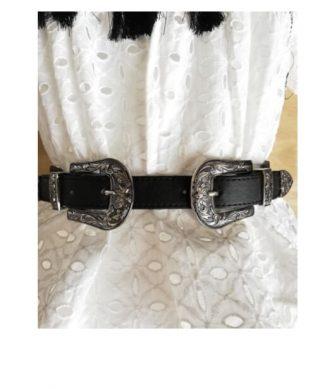 ceinture double boucle pas cher