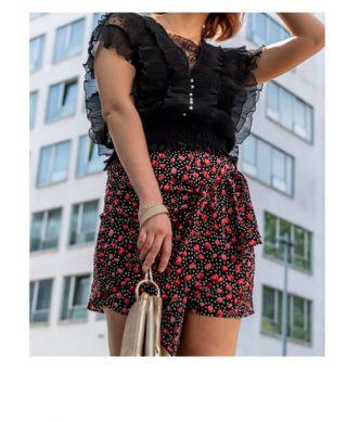 jupe courte imprimee fleurs