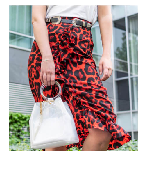 jupe imprime léopard