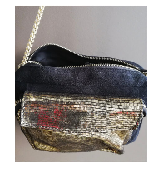 sac à main pochette doré