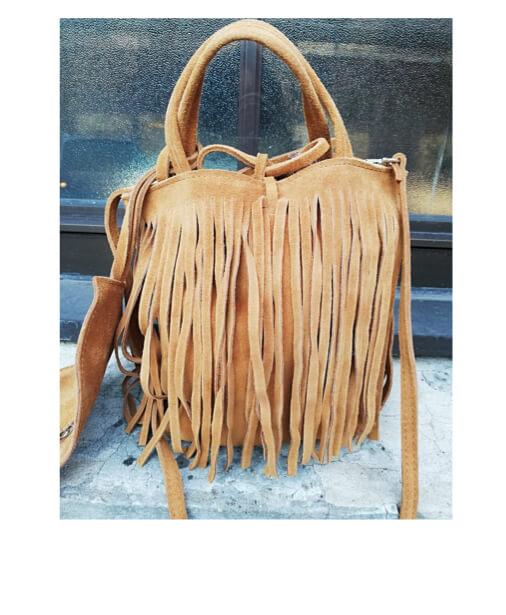 sac forme seau a franges