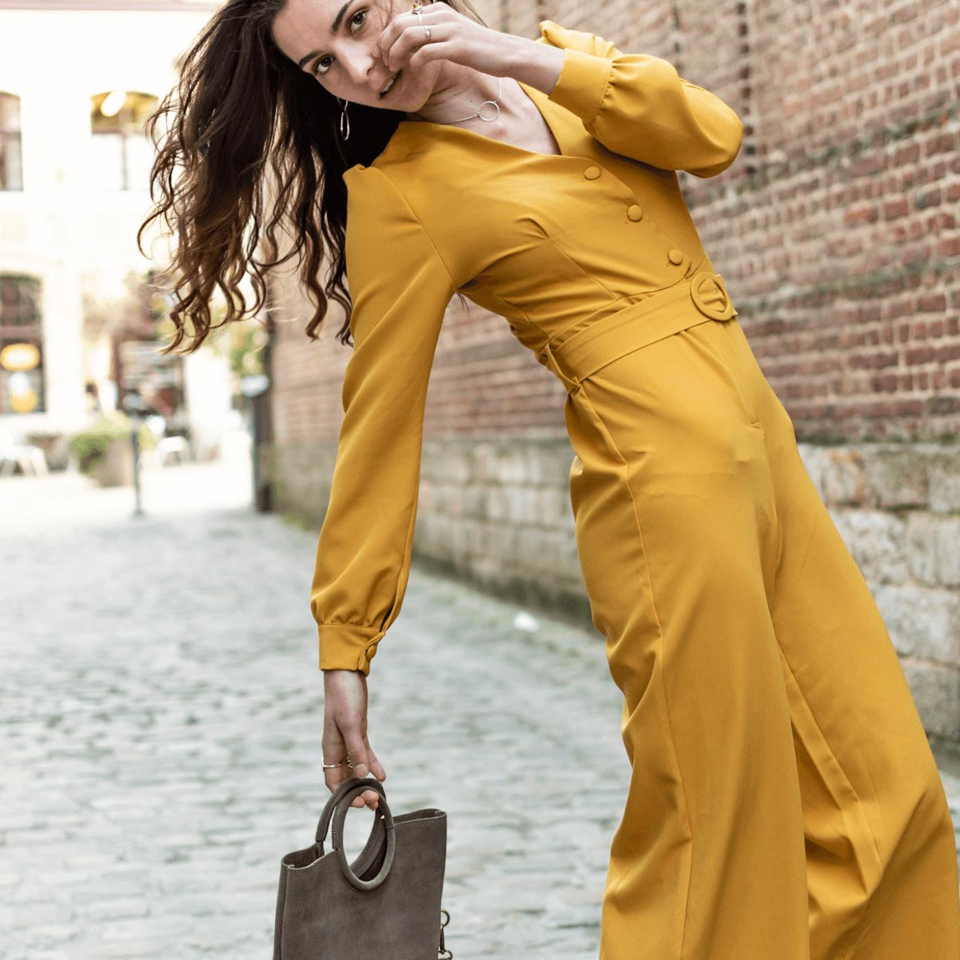 combinaison pantalon fluide, blog mode, laisse les parler