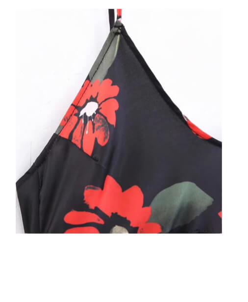 achat robe dos nu à fleurs
