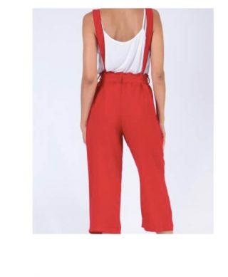 pantalon fluide à bretelles