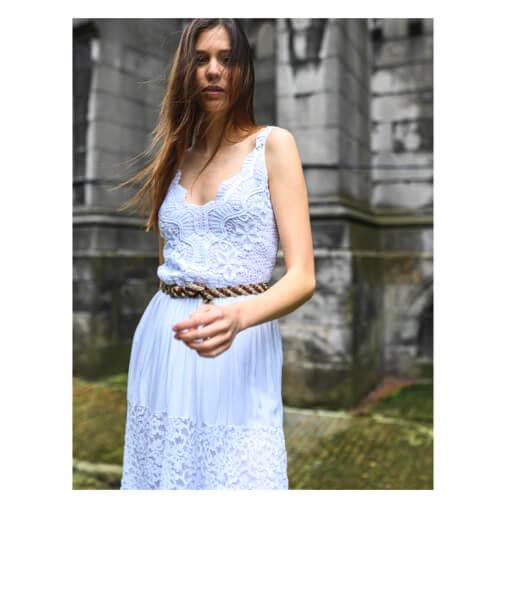 robe blanche style boheme avec broderie