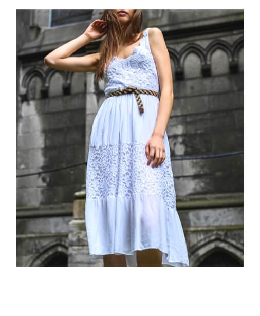 robe blanche style boheme