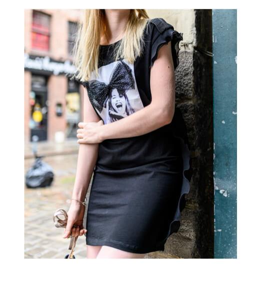 robe tee shirt noire