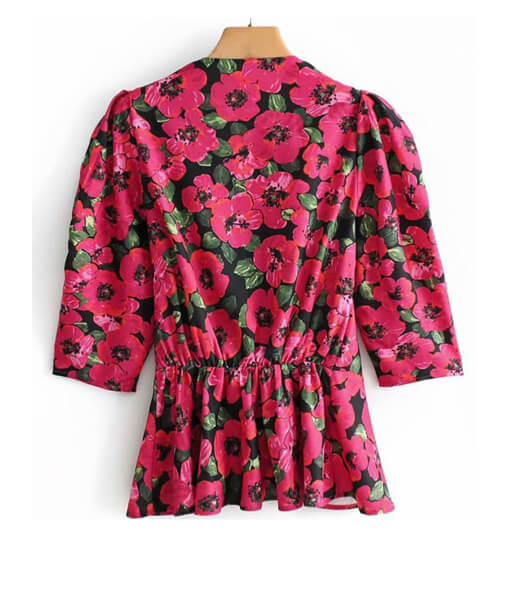 blouse imprimée dos