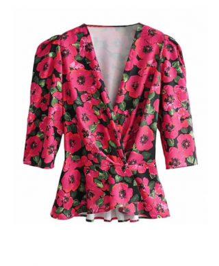 blouse imprimee fleurs