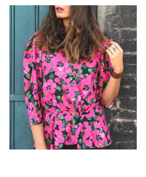 blouse imprimée à fleurs