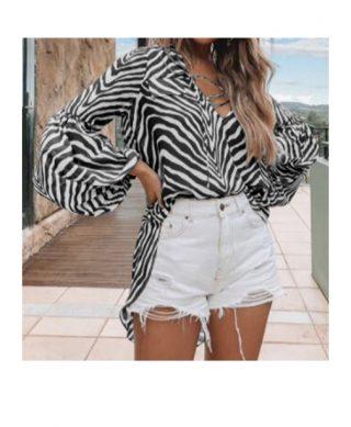 blouse animalier