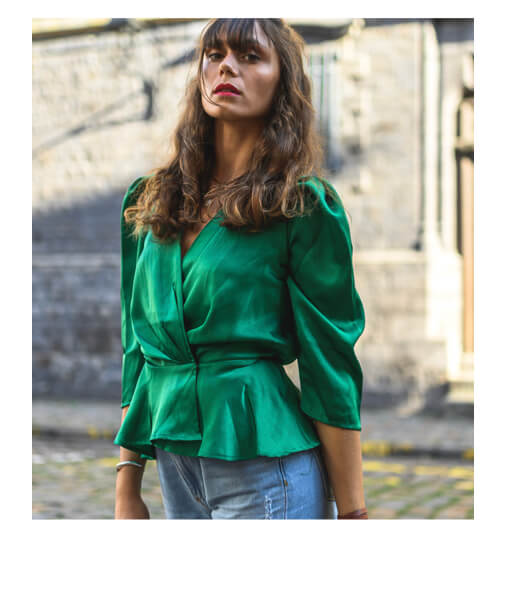 blouse cache coeur