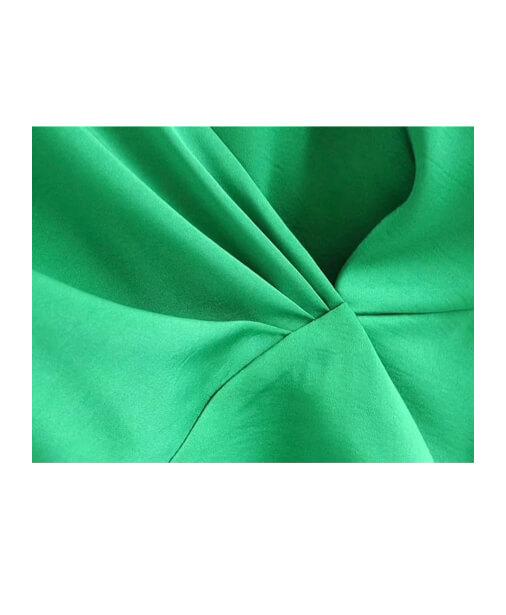 blouse cache coeur verte