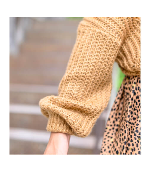 pull-grosse-maille-camel-manches