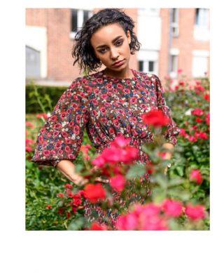 robe imprimé fleuri