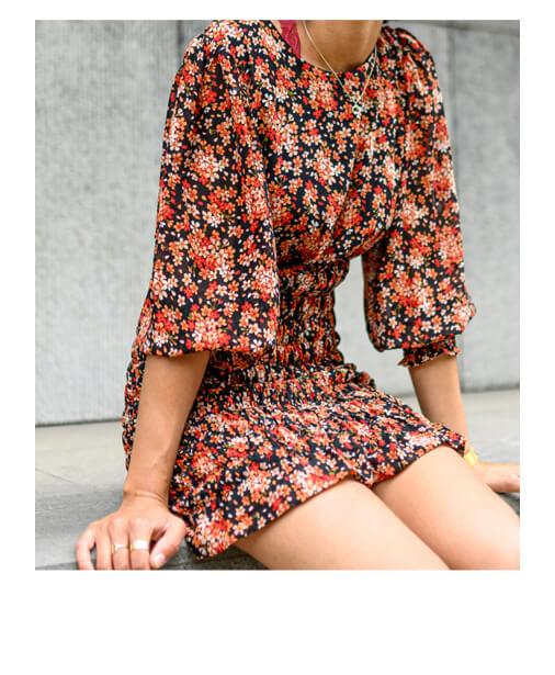 robe imprimé fleurs
