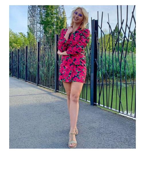 veste robe à fleurs-laisse les parler