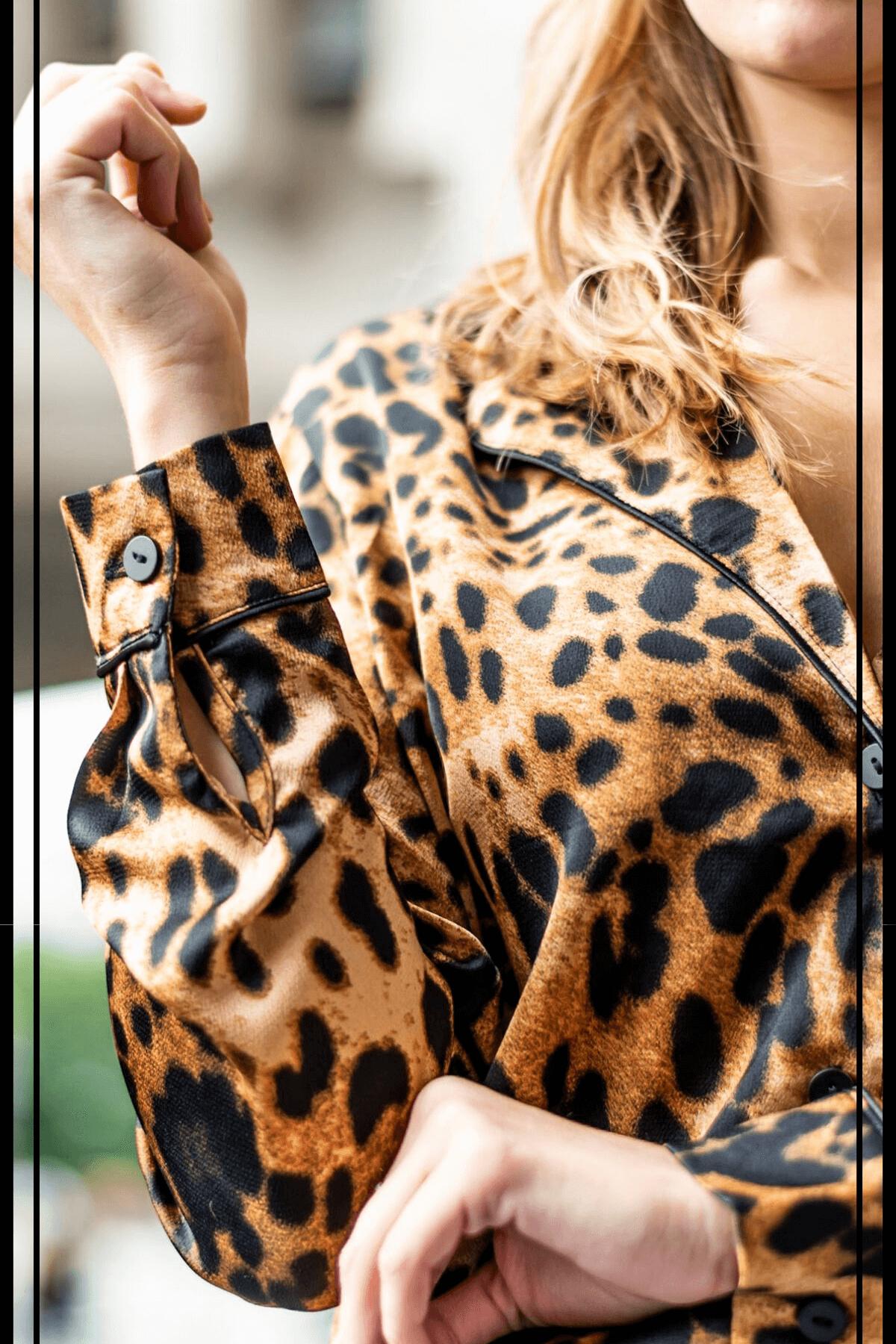 tendance imprime animalier : blouse léopard