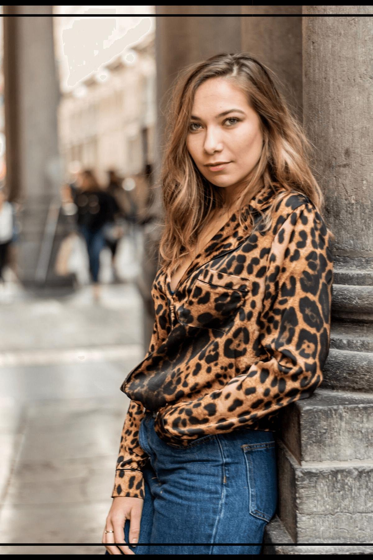 blouse tendance imprime animalier - laisse les parler -blog mode