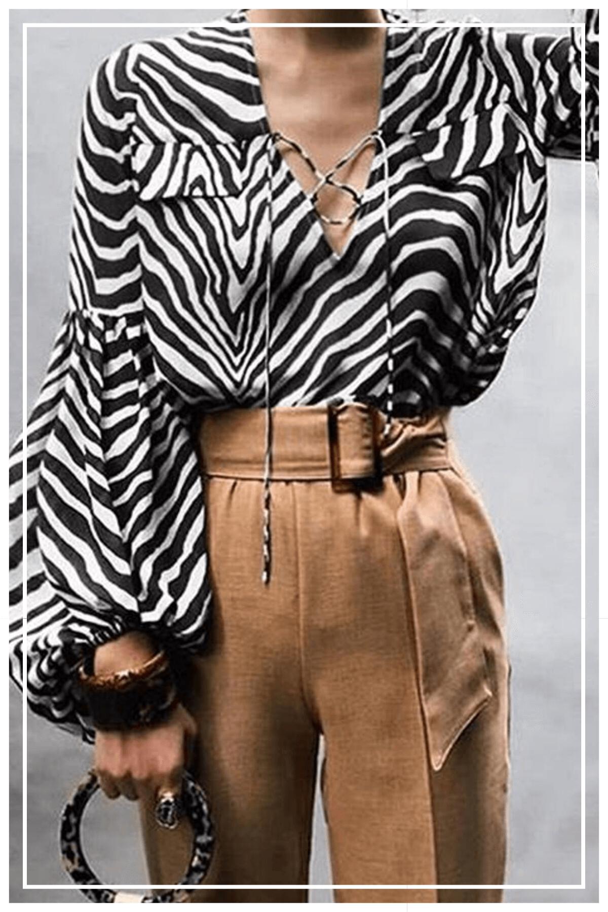 blouse imprimé zèbre