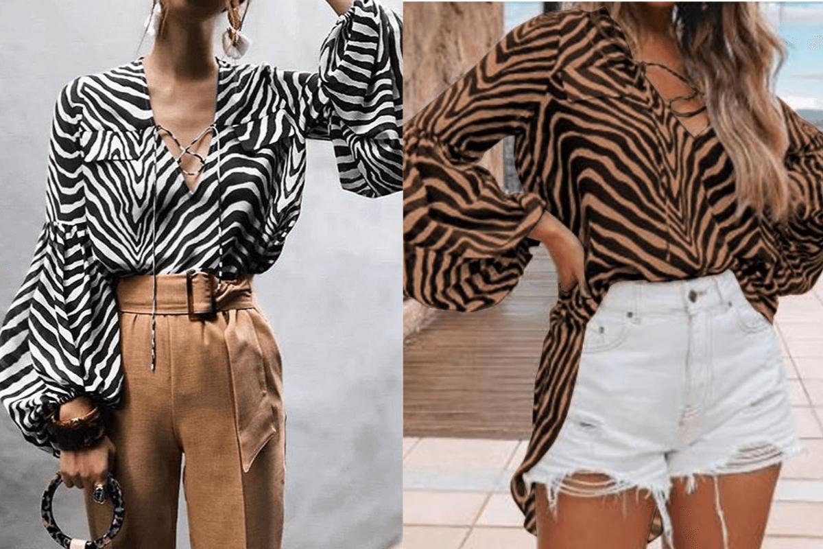 blouse imprime zebre