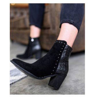 bottines noires pas cher